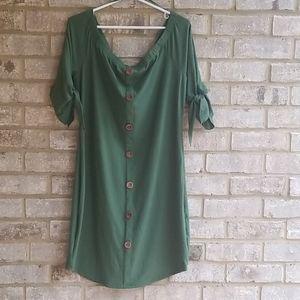 Love J Dresses - LOVE J Dress Green  Sz 3X